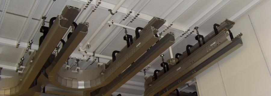 Deckenabhängung für Transportsystem