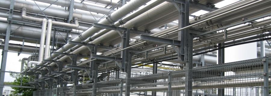 Stahlbau für Rohrbrücke